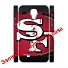 Dual-Protective Polymer Samsung Galaxy S4/S IV/SIV 3D hard back cover with San Francisco 49ers team logo-fits for Samsung Galaxy S4 C Spire SCH-R970X/ Verizon SCH-I545/ Metro PCS SGH-M919N/AT&T SGH-I337/ T-Mobile SGH-M919/ U.S. Cellular SCH-R970/ Sprint SPH-L720/ Cricket SCH-R970C
