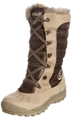 Timberland Women's Mount Holly F/l Light Grey with Purple Waterproof Boots 3468R 7 UK