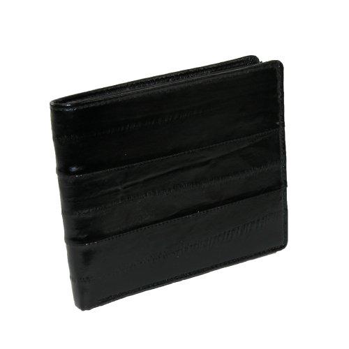 Eel Skin Slim fold wallet (Black)
