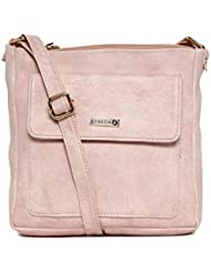 ESBEDA Light Pink Color Solid Slingbag For Women
