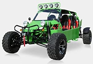 BMS Sand Sniper 1000 GREEN Gas 4 Cylinder 4 Seat Dune Buggy Go Kart