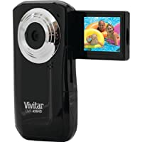 Vivitar DVR426-BLK/KIT-AMX LIC JPEG Video Recording Flip Digital Camera (Black)