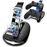 Playstation4 Regular Slim Pro Controller Charger, SUNKY LED Gaming Console Charging Stand USB Dock Station Mount Cradle for Sony PS4 (Color: Black)