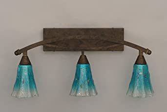 Bow 3 Light Bath Vanity Light Finish: Bronze, Shade: 5.5