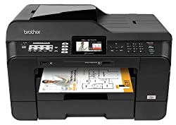 Brother MFCJ6710DW Business Inkjet All-in-One Printer with 11-Inch x 17-Inch Duplex Printing, 11-Inch x 17-Inch Scan Glass & Dual Paper Trays
