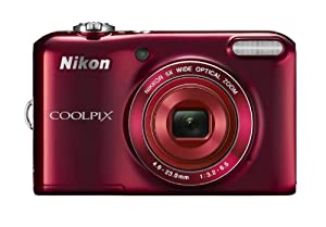 Nikon COOLPIX L28 - 20.1 MP Compact Digital Camera with 5x Zoom Lens, HD Video, 3-inch LCD Display - Red (Certified Refurbished)