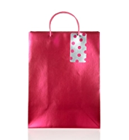Pink Metallic Large Gift Bag