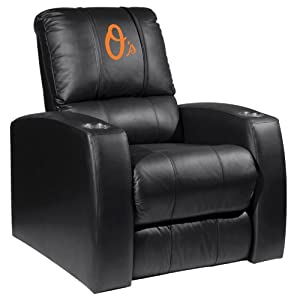 Home Theater Recliner with Baltimore Orioles Secondary by XZIPIT