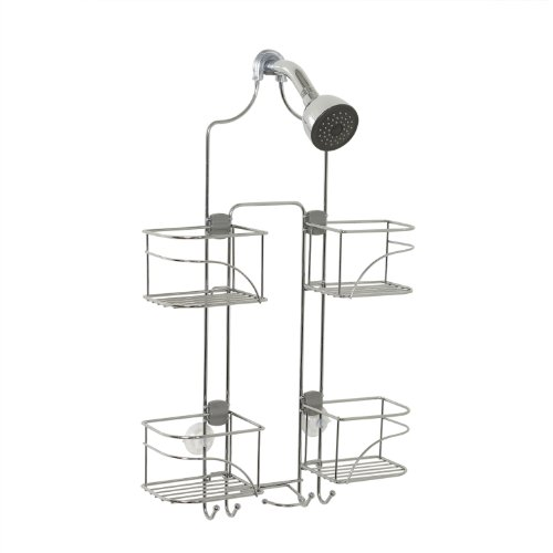 Zenna Home 7446SS, Expandable Over-the-Showerhead Caddy, Chrome