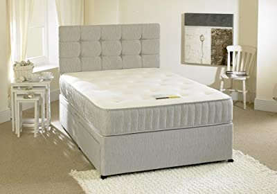 Happy Beds Contour Divan Bed Set With Spring Memory Foam Mattress No Drawers Headboard
