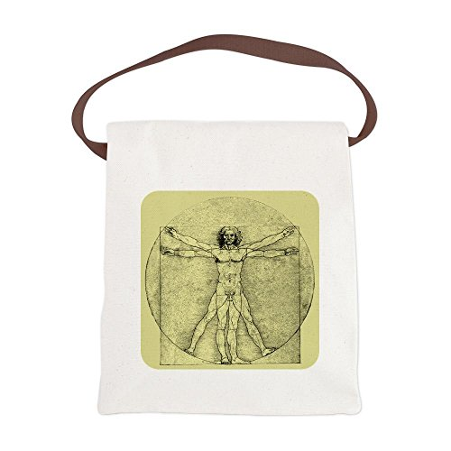 Canvas Lunch Bag Vitruvian Man by Da Vinci aosbos fashion portable insulated canvas lunch bag thermal food picnic lunch bags for women kids men cooler lunch box bag tote