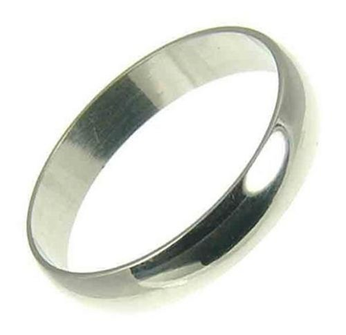 Ladies' Platinum 3mm D Shape Wedding Ring