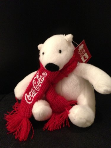 Coca-cola Plush Bear with Red Scarf - 1