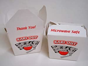 To Go Boxes, 10 pc. quart size with Kariout design