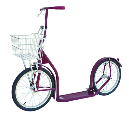 "Amish Made Kid's Kick Scooter, 16"" Wheels (Maroon)"