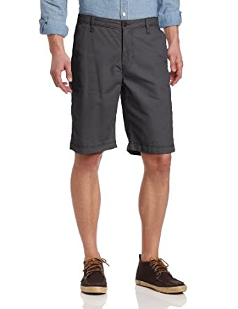 Lucky Brand Men's Flat Front Short, Pebble, 31