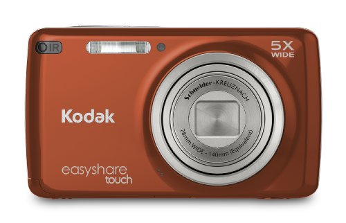 Kodak Easyshare Touch M577 14 Mp Digital Camera With 5X Optical Zoom And 3-Inch Lcd Touchscreen - Redorange