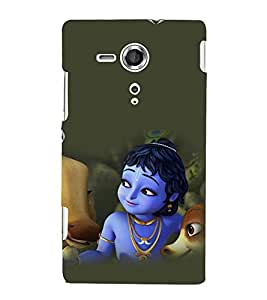 printtech Lord God Krishna Cartoon Back Case Cover for One Plus X