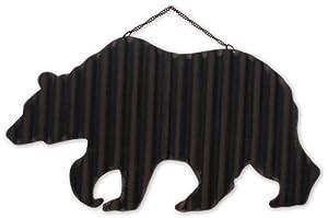 Sunset Vista Design Studios Hanging Magnetic Address or Wall Sign, Brown Bear