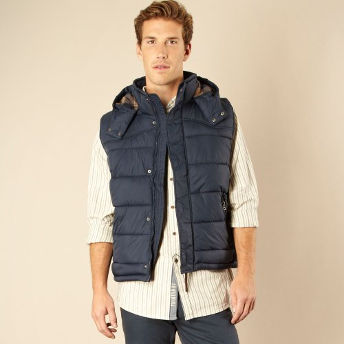 Mantaray Navy Hooded Gilet