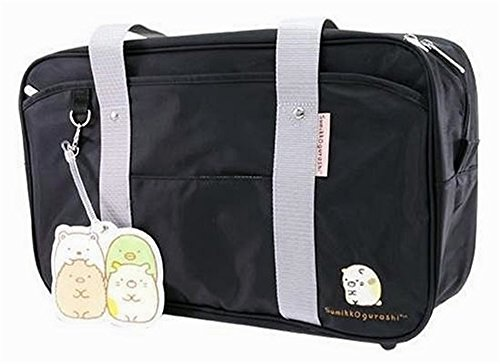Sumikko gurashi school bag (with a pass) with leather nylon corner life (nylon: black)