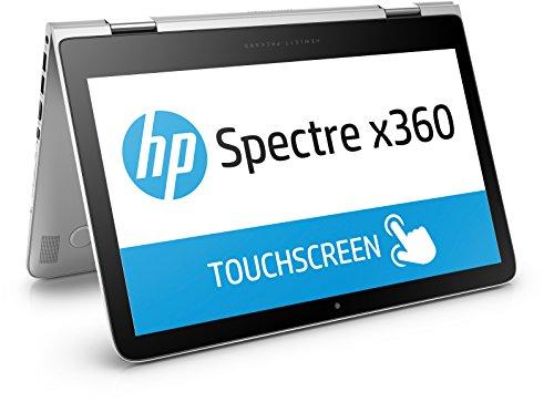 HP Spectre x360 (13-4108ng) 33,8 cm (13,3 Zoll / QHD IPS) Convertible Notebook (360° Laptop, Intel Core i7-6500U, 8 GB RAM, 256 GB SSD, Windows 10) silber