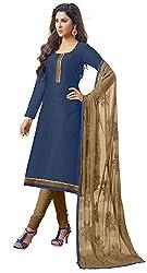 RK Exports Dark Blue Dress Material