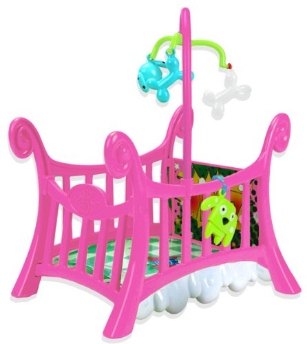 Ding-E Babies Crazy Cute Crib And Accessories; Puppy Crib front-729238