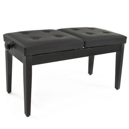 Deluxe Duet Piano Stool in black