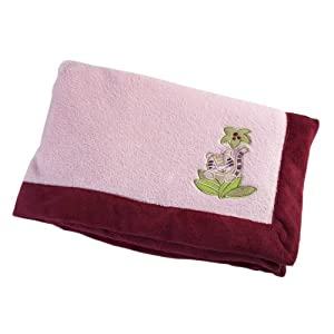 Nojo Sweet Jungle Babies Coral Fleece Blanket