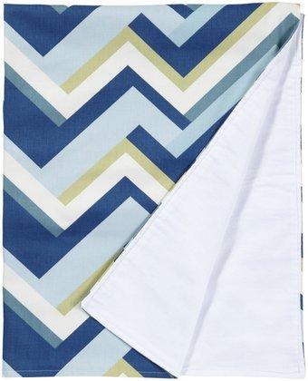 New Arrivals Clubhouse Crib Blanket- Dark Blue & White