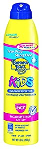 Banana Boat Sunscreen Ultra Mist Kids Tear-Free Sting-Free Broad Spectrum Sun Care Sunscreen Lotion - SPF 50, 9.5 Ounce
