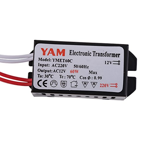 Vakind Ac220V To 12V 60W Electronic Transformer Driver For Led Light Lamp Bulb