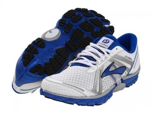 Brooks Mens PureCadence Running Shoes Color White Deep Royal Silver 9 5 M US 29d09d28d
