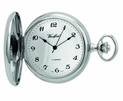 Woodford Pocket Watch 1027 Chrome Plated Mechanical Full Hunter