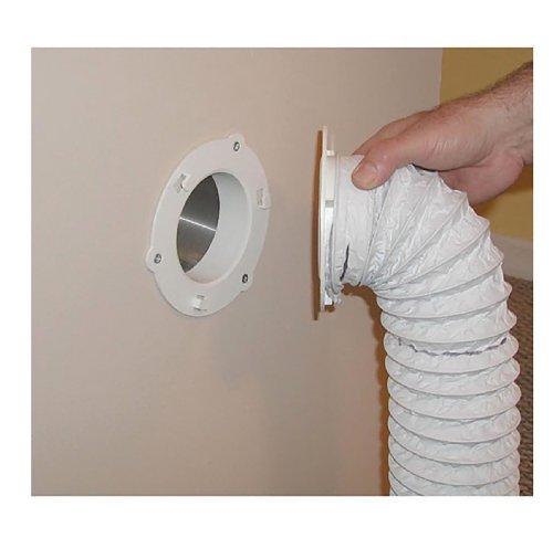 """Dryer Dock Dryer Vent 6"""" for 4"""" Tubes, White"""