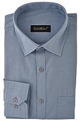 Edinwolf Men's Formal Shirt (EDFR719_41, Blue, 41)