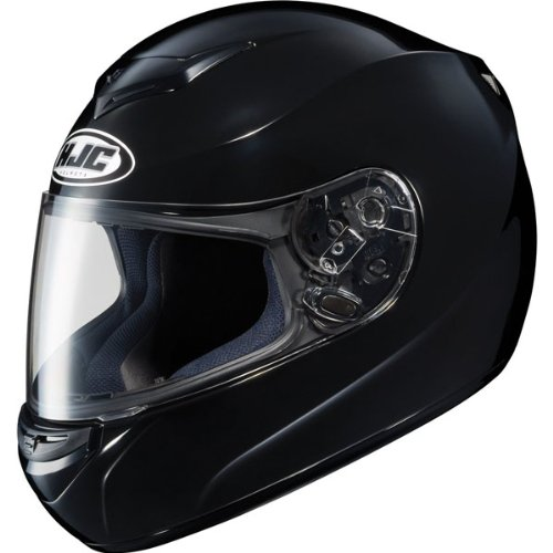 HJC Solid Men's CS-R2 On-Road Motorcycle Helmet – Black / 2X-Large
