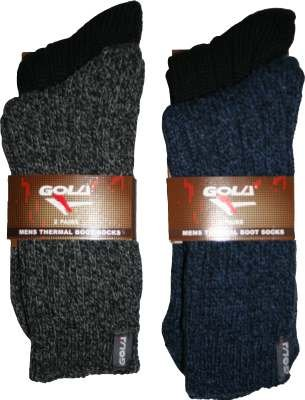 Gola 2 Pairs Black Mens Wool Thermal Boot Socks 611