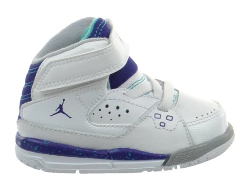 Jordan SC-1 (TD) Baby Toddlers Shoes White/Grape Ice-New Emerald 407496-109-10