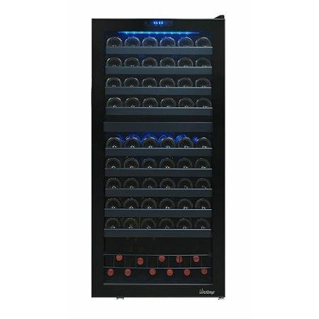 110-Bottle Capacity Dual-Zone Touch Screen Wine Cooler (Vinotemp 110 compare prices)