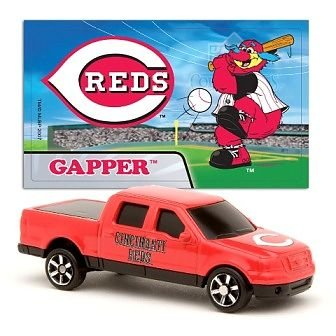 MLB Cincinnati Reds Die Cast 2007 Ford F-150 Truck with Sticker - 1