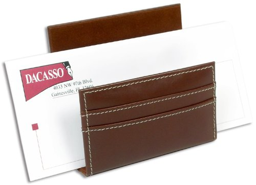 Dacasso Rustic Brown Leather Letter Holder