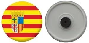 Imán del refrigerador bandera España Aragon - 58mm   Comentarios de clientes y más información