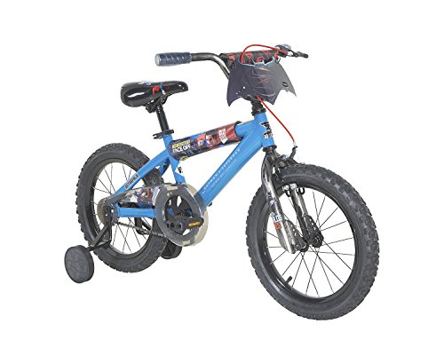 "Batman vs Superman Boys Dynacraft Bike, Blue/Black/Red, 16"" at Gotham City Store"