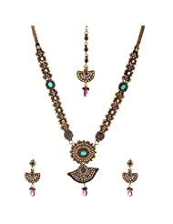 Dishi Imitation Antique Gold Plated Chain Long Necklace For Women