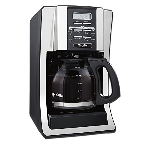 Mr. Coffee BVMC-SJX33GT-AM 12-Cup Programmable Coffee Maker with Thermal Carafe Option, Chrome (Stainless Mr Coffee compare prices)