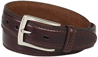 Dockers Men's 35mm Feather Edge Belt, Brown,32