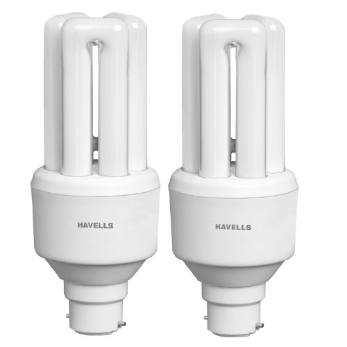 Havells 20W TU B22 CFL Bulb (Warm White, Pack of 2)