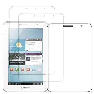 ebestStar - Pour Tablette Samsung Galaxy TAB 2 7.0 P3100 / P3110 - LOT DE 3 FILM PROTECTEUR ANTI-RAYURE / protection d'écran tactile, LCD, cristal, transparent + chiffonnette (microfibre / chiffon)